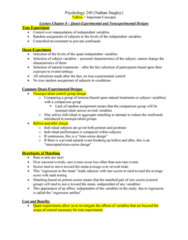 PSY 240 Lecture Notes - Lecture 11: Random Assignment, Longitudinal Study, Internal Validity