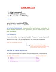 ECON 101 Lecture 1: ECONOMICS 101 NOTES BRUNO ARAQUE