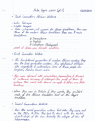 ENGL 2927 Lecture Notes - Lecture 14: Aria, Lola Shoneyin, Chinua Achebe