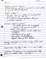 PHIL 194 Lecture 1: PHIL 194 - Ch. 1 Notes