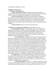 POL S 203 Lecture Notes - Lecture 5: French Wine, Comparative Advantage, Zero-Sum Game