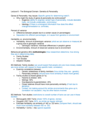 PSYC 2740 Lecture Notes - Lecture 6: Twin Study, Behavioural Genetics, Heritability