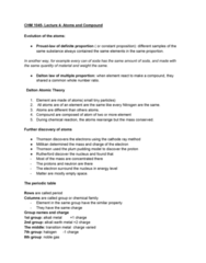 CHM-1045 Lecture Notes - Lecture 4: Alkaline Earth Metal, Alkali Metal, Transition Metal