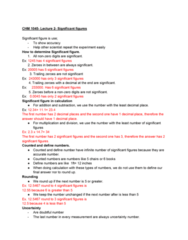 CHM-1045 Lecture Notes - Lecture 1: Significant Figures