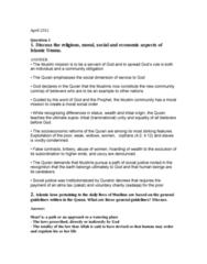 RLG204H5 Lecture Notes - Lecture 1: Sadaqah, European Union Law, Zakat
