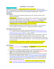 Geography 2011A/B Study Guide - Midterm Guide: Chicago River, Sewage Treatment, Saginaw River
