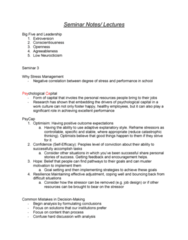 HROB 3100 Study Guide - Midterm Guide: Goal Setting, Blockbusting, Situation Two