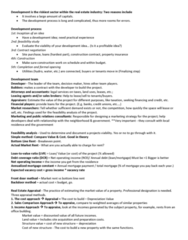 REAL 1820 Study Guide - Midterm Guide: Income Approach, Credit History, Property Insurance