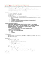 ENG 1100 Lecture Notes - Lecture 5: Counterargument, Thesis Statement