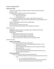 PSYC 2700H Lecture Notes - Lecture 8: Stanford Prison Experiment, Dave Eshelman, Deindividuation