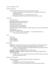 PSYC 2700H Lecture Notes - Lecture 7: Microexpression, White Coat, Deindividuation