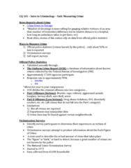 CLJ 101 Lecture Notes - Lecture 2: National Crime Victimization Survey, Uniform Crime Reports, Colt Official Police