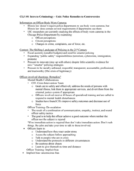 CLJ 101 Lecture Notes - Lecture 4: Chicago Police Department, Procedural Justice, Stress Management