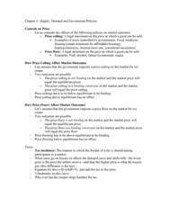 AUECO101 Lecture Notes - Lecture 6: Ice Cream Cone, Price Ceiling, Price Floor