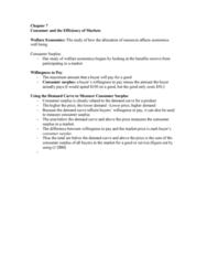 AUECO101 Lecture Notes - Lecture 7: Economic Surplus, Demand Curve
