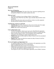 AUECO101 Lecture Notes - Lecture 13: Savings Account, Opportunity Cost, W. M. Keck Observatory
