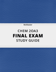 CHEM 2OA3- Final Exam Guide - Comprehensive Notes for the exam ( 73 pages long!)