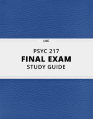 PSYC 217- Final Exam Guide - Comprehensive Notes for the exam ( 61 pages long!)