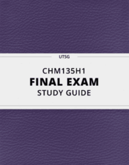 CHM135H1- Final Exam Guide - Comprehensive Notes for the exam ( 29 pages long!)