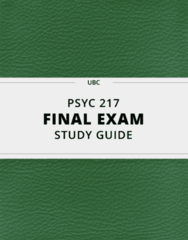 PSYC 217- Final Exam Guide - Comprehensive Notes for the exam ( 41 pages long!)