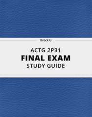 ACTG 2P31- Final Exam Guide - Comprehensive Notes for the exam ( 23 pages long!)