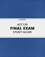 ACC120- Final Exam Guide - Comprehensive Notes for the exam ( 64 pages long!)