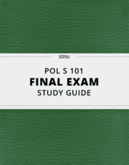 POL S 101- Final Exam Guide - Comprehensive Notes for the exam ( 31 pages long!)