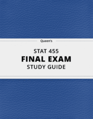 STAT 455- Final Exam Guide - Comprehensive Notes for the exam ( 35 pages long!)