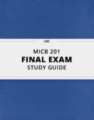 MICB 201- Final Exam Guide - Comprehensive Notes for the exam ( 131 pages long!)