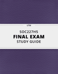 SOC227H5- Final Exam Guide - Comprehensive Notes for the exam ( 59 pages long!)