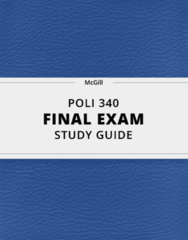 POLI 340- Final Exam Guide - Comprehensive Notes for the exam ( 76 pages long!)