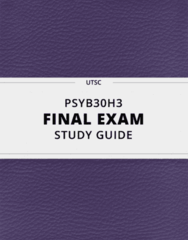 PSYB30H3- Final Exam Guide - Comprehensive Notes for the exam ( 125 pages long!)