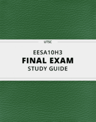 EESA10H3- Final Exam Guide - Comprehensive Notes for the exam ( 134 pages long!)
