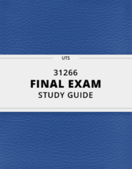 31266- Final Exam Guide - Comprehensive Notes for the exam ( 42 pages long!)