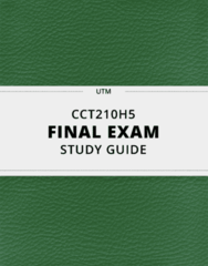 CCT210H5- Final Exam Guide - Comprehensive Notes for the exam ( 34 pages long!)