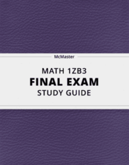 MATH 1ZB3- Final Exam Guide - Comprehensive Notes for the exam ( 66 pages long!)