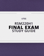RSM220H1- Final Exam Guide - Comprehensive Notes for the exam ( 28 pages long!)