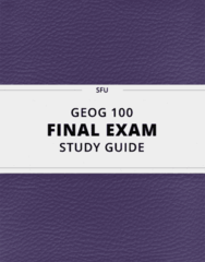 GEOG 100- Final Exam Guide - Comprehensive Notes for the exam ( 40 pages long!)
