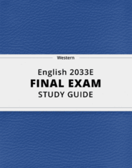 English 2033E- Final Exam Guide - Comprehensive Notes for the exam ( 137 pages long!)