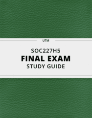 SOC227H5- Final Exam Guide - Comprehensive Notes for the exam ( 24 pages long!)