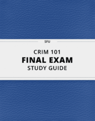 CRIM 101- Final Exam Guide - Comprehensive Notes for the exam ( 107 pages long!)