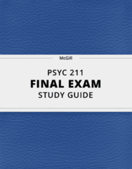PSYC 211- Final Exam Guide - Comprehensive Notes for the exam ( 35 pages long!)