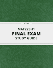 MAT223H1- Final Exam Guide - Comprehensive Notes for the exam ( 27 pages long!)