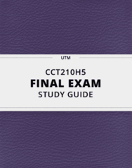 CCT210H5- Final Exam Guide - Comprehensive Notes for the exam ( 63 pages long!)