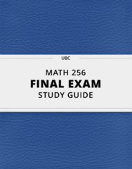 MATH 256- Final Exam Guide - Comprehensive Notes for the exam ( 55 pages long!)