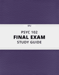 PSYC 102- Final Exam Guide - Comprehensive Notes for the exam ( 35 pages long!)