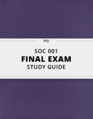 SOC 001- Final Exam Guide - Comprehensive Notes for the exam ( 46 pages long!)