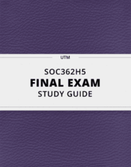 SOC362H5- Final Exam Guide - Comprehensive Notes for the exam ( 79 pages long!)