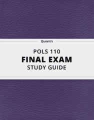 POLS 110- Final Exam Guide - Comprehensive Notes for the exam ( 26 pages long!)