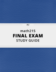 math215- Final Exam Guide - Comprehensive Notes for the exam ( 80 pages long!)